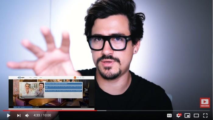 Andres En Ingles Youtuber probando una leccion de Open English