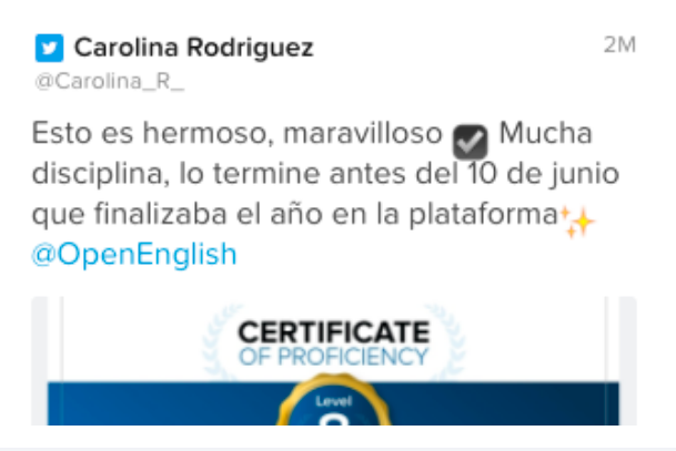 Opinión de Carolina Rodriguez sobre Open English